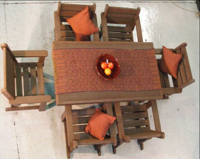 patio-set-12-x-18m-table-with-6-single-seaters
